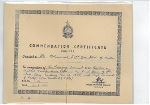 COMMENDATIN CETIFICATE FIRST POSITION IN MEDCAL JURISPRUDENCE 21st.MARCH.19977