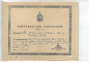 COMMENDATIN CETIFICATE THIRD POSITION IN LOCAL & SPECIAL LAWS,21st MARCH 1997